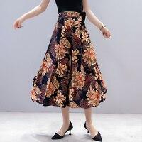 High Waist Loose Summer Pants Plus Size 5XL Women Floral Print Pants Casual Wide Leg Trousers Ladies Clothing