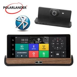 Автомобильный видеорегистратор Full HD 1080P с двумя объективами, Автомобильный видеорегистратор, камера заднего вида, 7 дюймов, центральная кон...