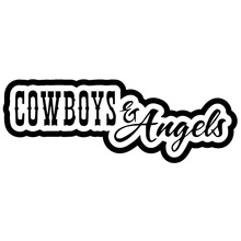 14.8X5.3CM Cowboys And Angels Personal preference Vinyl Decal Car Sticker Car-Styling range productivity and plant preference