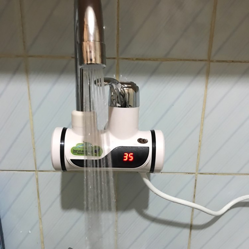 Image 5 - Kitchen Tankless Water Heater 220V 3000W Instant Electric Faucet Hot Water Electric Fast Heater Tap With Temperature Display E-in Faucet Extenders from Home & Garden