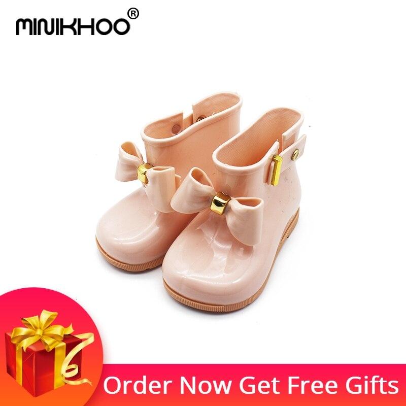 2017 Cute Mini Melissa Rain Boots Mini Sed'S Zapatos de arco Botas - Zapatos de niños