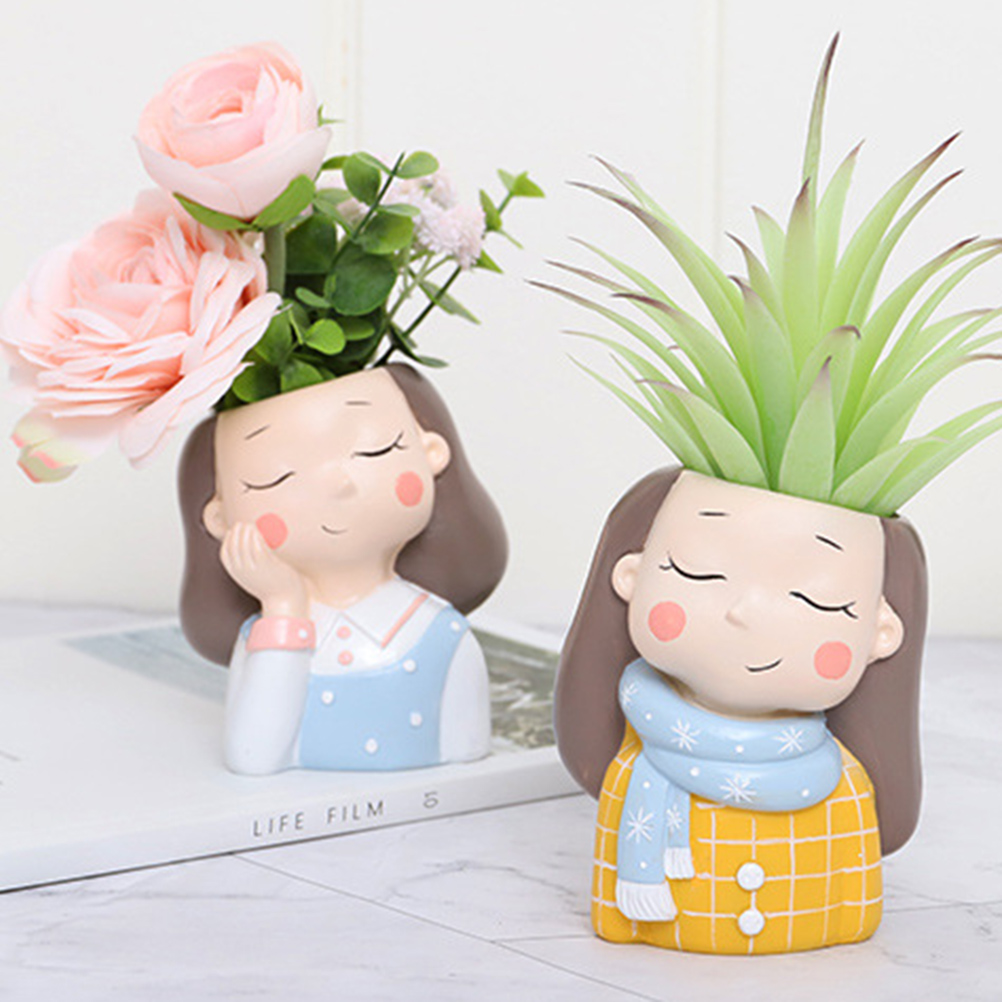 4pcs Cartoon Girl Flower…