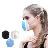 Intelligent Electric Dust Mask PM2.5 Activated Carbon Masks Mute Micromotor Anti fog Haze Protective Mouth Mask Health Care Gift