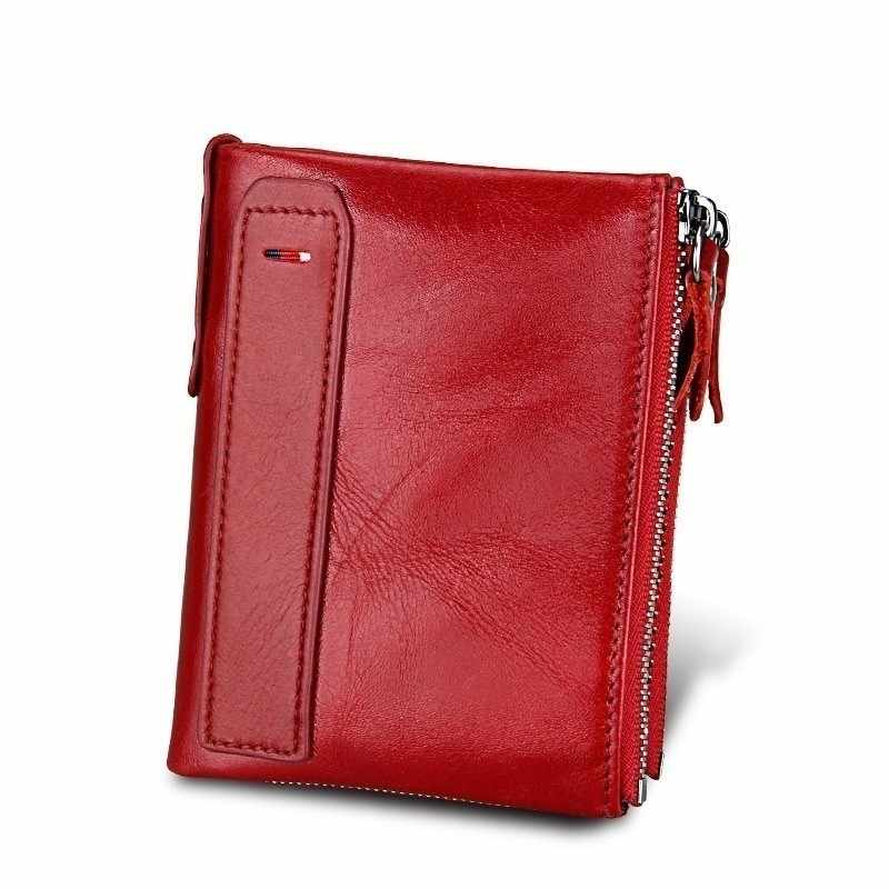 Genuine Leather Women's Wallet Purse Female Small Portomonee Rfid Wallet Lady Coin Purses For Girls Money Bag Cartera Mujer