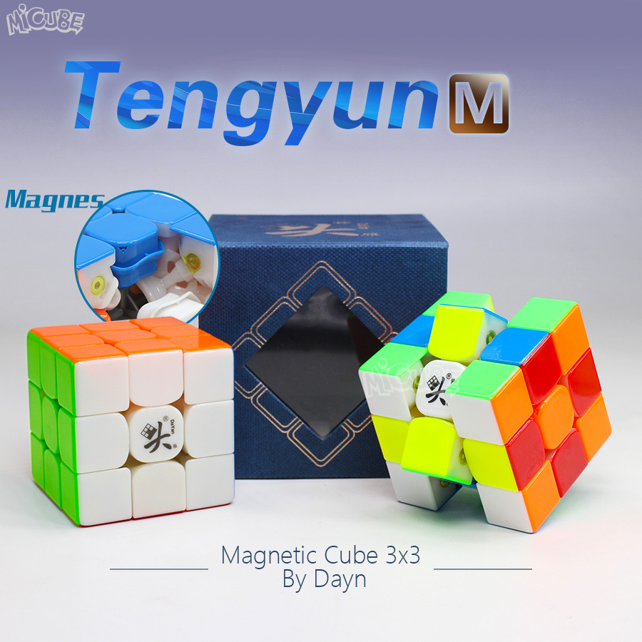 Dayan Tengyun M Magnetic Cube 3x3x3  Magic Cubes Speed Puzzle Dayn V8 Cubo Magico 3x3 Professional Stickerless Toys For Children
