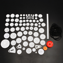 81pcs/set Plastic Gear Wheel Assorted Kit For Toy Car Motor Robot Shaft Model Crafts doit one set accessory for robot tank car chassis including metal bearing wheel driving wheel tracks motor diy rc toy part
