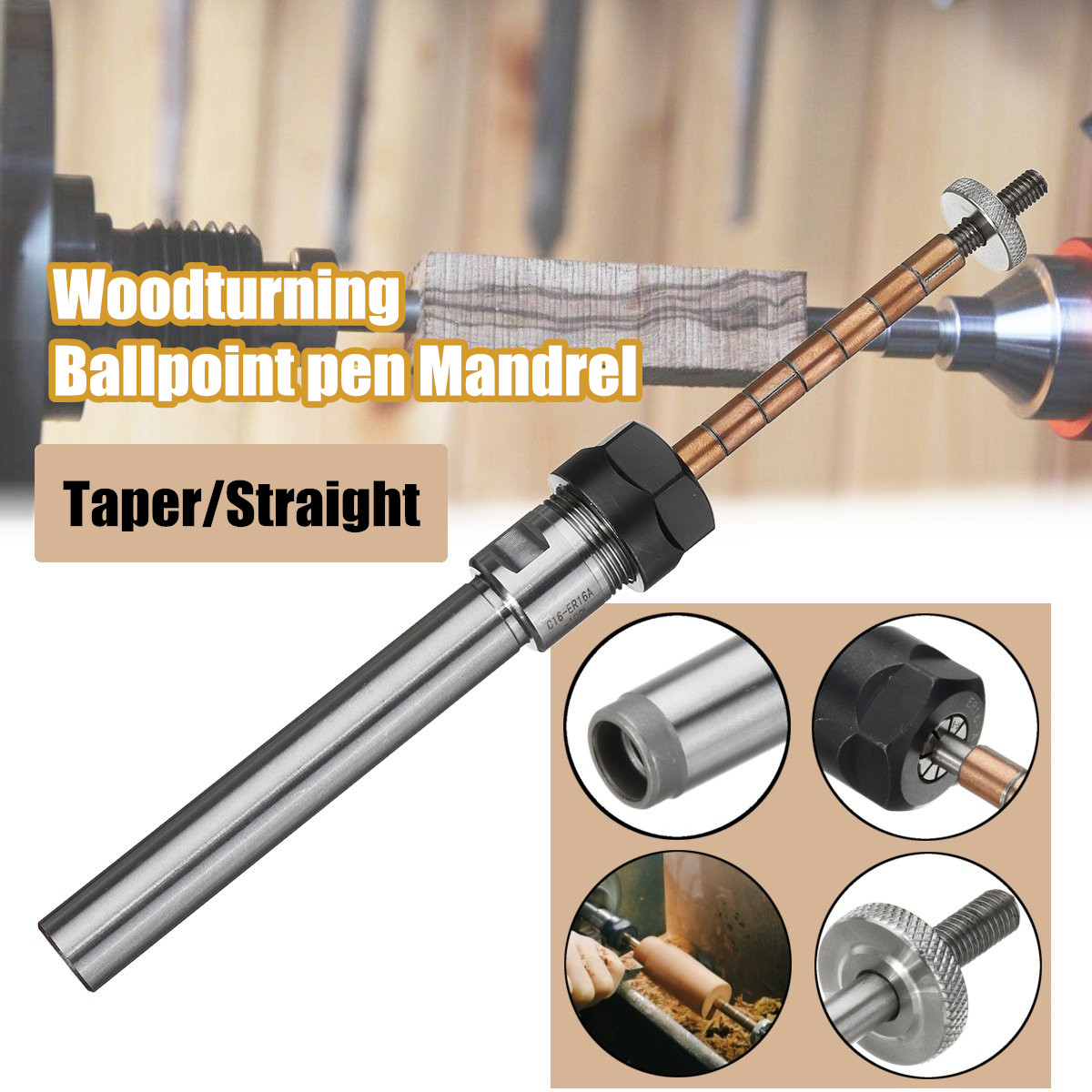 Rotarys Top Lathe Machine Revolving Centre Wood turning Ballpoint pen Mandrel Taper/Straight Shank(China)