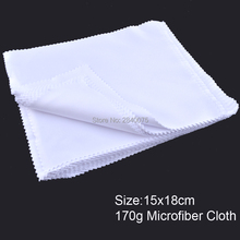 100pcs 15x18cm White Lens Clothes Eyeglasses Cleaning Cloth Microfiber Phone Eyewear
