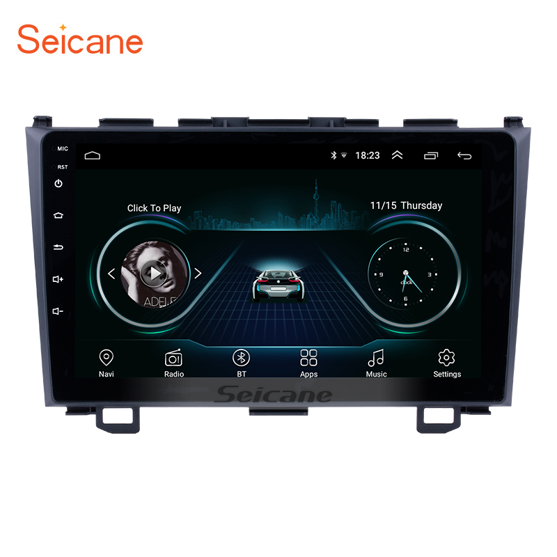 Seicane 9 Inch HD Touchscreen Radio Android 8.1 Head Unit For 2006-2011 Honda CRV Car Stereo GPS Navigation System Bluetooth SWC