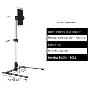 Image 4 - Photography Adjustable Table Top Stand Set Mini Monopod+Phone Clip Fill In Light Bluetooth Control
