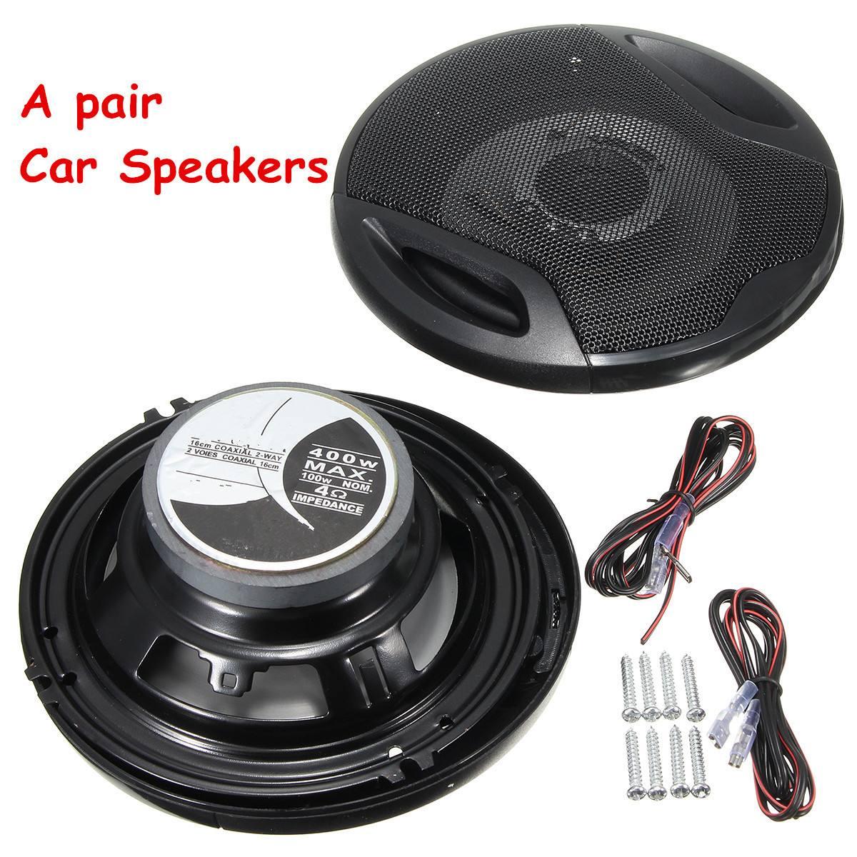 "KROAK 1Pair Car Speaker 12V 400W 6"" Car Subwoofer Coaxial Speaker Car Rear/Front Door Audio Music Stereo 2 Way Coxial Speakers"