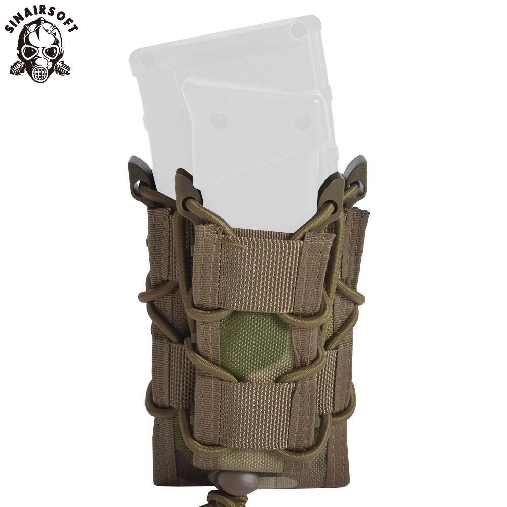 Tactical Military Double Deck Fast MAG Pistol Rifle Molle <font><b>Magazine</b></font> Pouch <font><b>M4</b></font> M16 AK Glock 1911 Multicam AR15 Ammo Hunting Nylon image