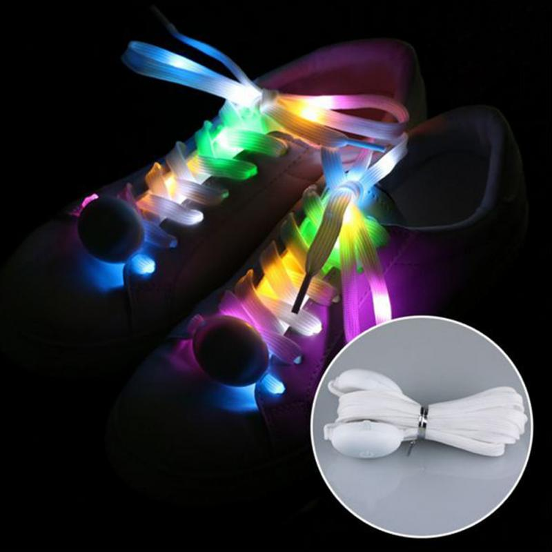 Colorful LED Sport Shoe Laces Luminous Shoelaces Glow Shoe Strings Round Flash Light Shoelaces No Tie Lazy Shoe Laces  #3