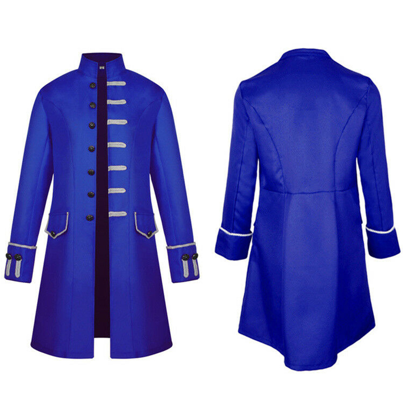 New Fashion Man Steampunk Jackets Long Sleeve Retro Men's Uniform Costumes Coats Steampunk Retro Long Jackets Coats Plus Size