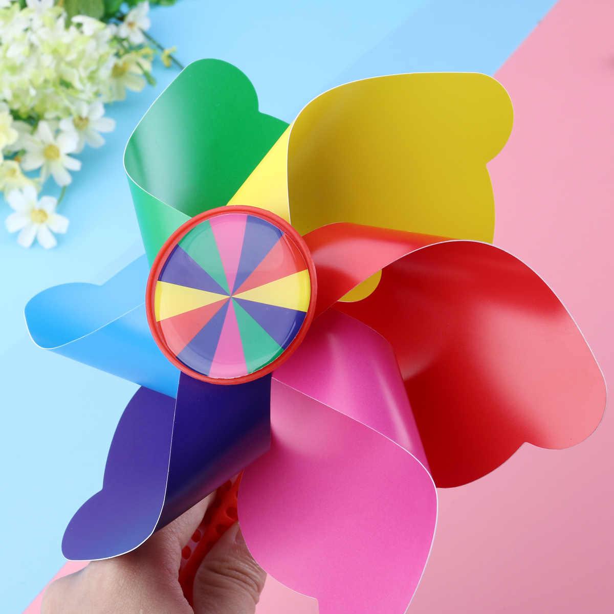 1 Pcs Anak Sepeda Bunga Pinwheel Kincir Angin Dekorasi Hadiah untuk Anak-anak Sepeda Skuter Kincir Angin Mainan (Rainbow Warna)