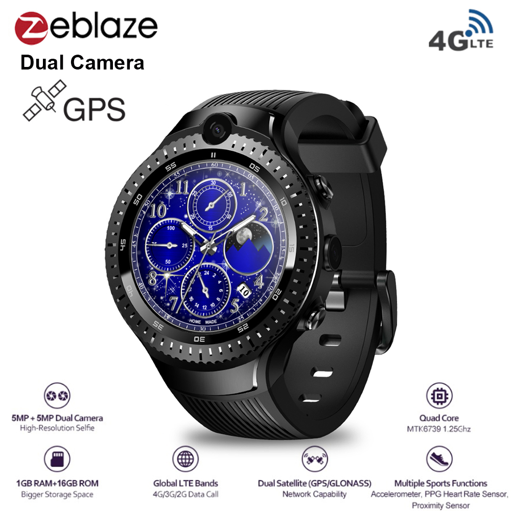 Zeblaze THOR 4 Dual 4G Smart Watch Android 7.1 GPS MTK6737 Quad Core 1GB+16GB 5M