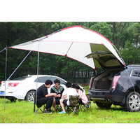 Waterproof Car Sunshade Portable Outdoor Camping Sun Shelter Tent with Screen Window Tailstock Weather Enclosure Sunshade Picnic