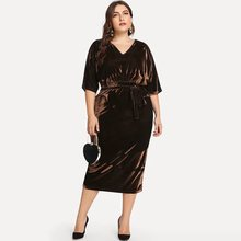 Velvet Dress Women Brand Plus Size Backless Sexy Bodycon Stylish Street Lace Up Solid Elegant Party Corduroy Casual Midi Dresses stylish cami lace women s bodycon dress