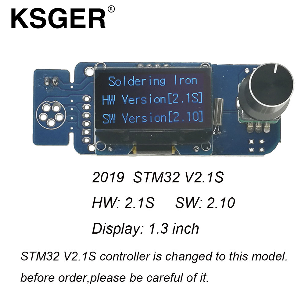 KSGER V2.1S Electric Soldering Irons  T12 STM32 OLED 1.3 Size Screen Controller 9501 Soldering Handle DIY Kits For Hakko T12 Tip Electric Soldering Irons    - AliExpress