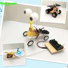 Happyxuan 3 sets Children DIY STEM Education Kits Science Experiments Materials School Project Robot Creative Toy Boy 6 Years(China)