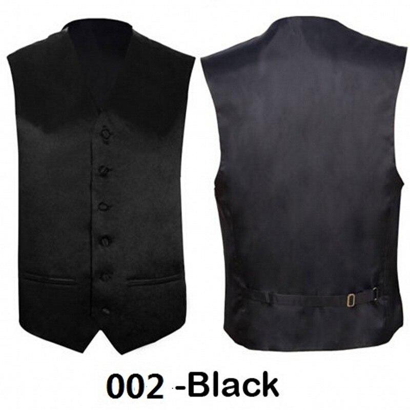 Wedding Mens Classic Black Solid Slim Suit Casual Tuxedo Waistcoat Fashion Color