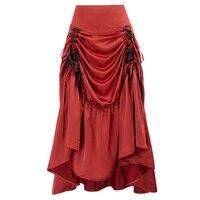 Victorian Gothic Rock Gypsy Retro Vintage Skirt Steampunk Ruffled Cosplay Skirt