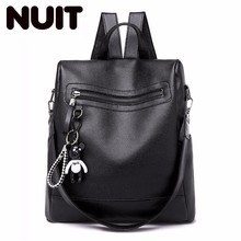 Female Both Shoulders Bagpack Woman Fashion Soft Pu Leather Bag Leisure Time Backpack Bags Mochila Feminina