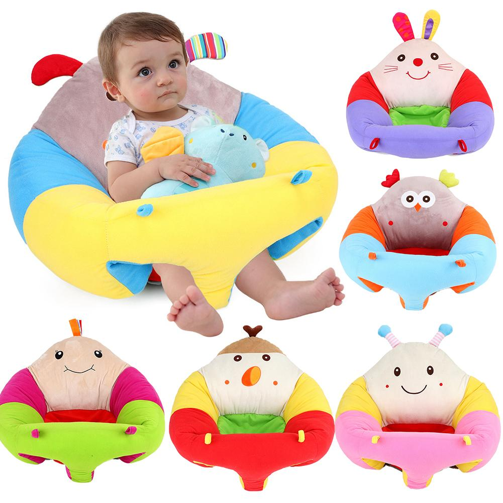 Cartoon Shape Baby's Learning Seat Safa Plush Toy Children's Innovative Comfortable Safe Dining Chair Toy Seat