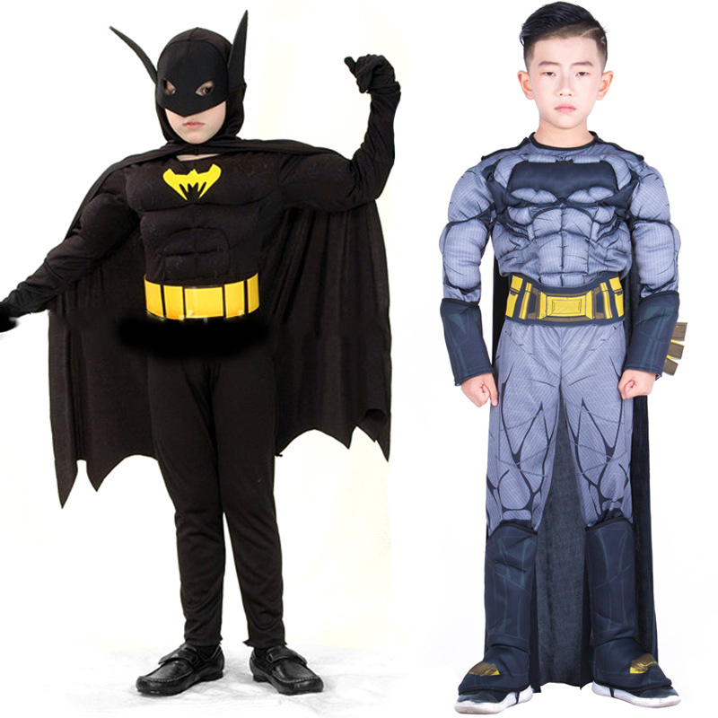 Halloween Boy Superhero Movie Batman Muscle Character Fancy Dress Book Week Children's Days Superman Costume