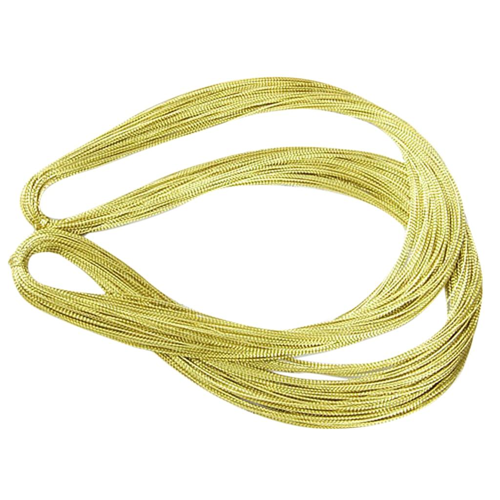0.6mm Braided Metallic cord thread for crochet macrame trim stitch 10M roll