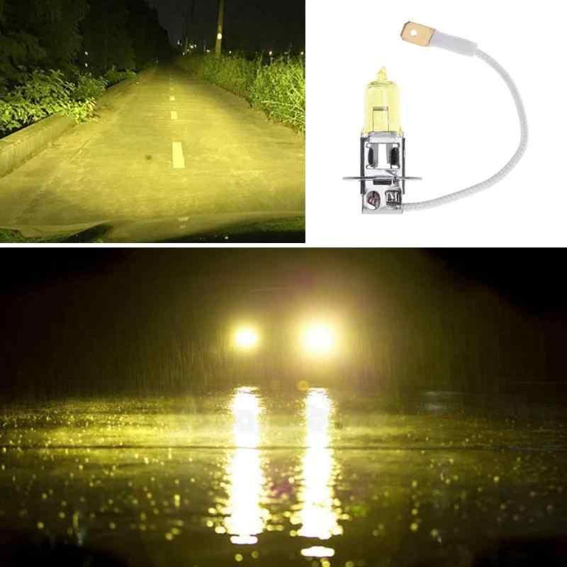 1pc H3 12V 3000K Automobiles Auto voiture xénon lampe frontale halogène antibrouillard ampoule phare phare pour Auto Auto produits jaune