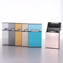 Ультратонкий Модный чехол для сигарет, тонкая металлическая коробка для сигарет, алюминиевая Подарочная коробка, упаковка для сигарет