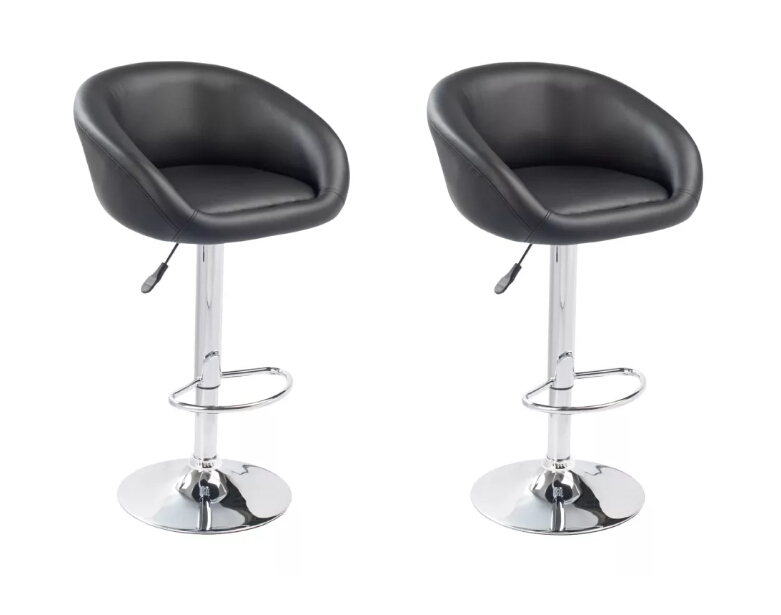 VidaXL Bar Stools 2 Pcs Black 360 Degrees Rotated Living Room Chairs Suitable For Home Or Office 60163VidaXL Bar Stools 2 Pcs Black 360 Degrees Rotated Living Room Chairs Suitable For Home Or Office 60163