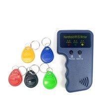 Ручной 125 кГц RFID считыватель карт копировщик писатель Дубликатор Программист Копия ID карты+ 5 шт. EM4305 каждая записываемая бирка