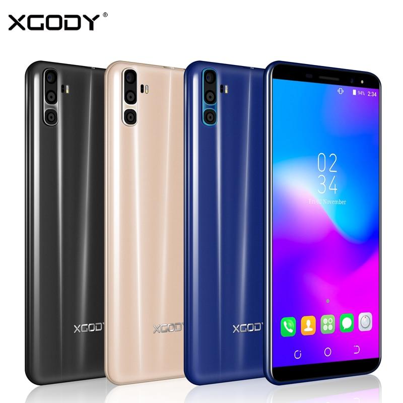 XGODY Y28 Dual Sim Smartphone 6 Inch 18:9 Android 7.0 Quad Core 1GB+16GB Mobile Phone 3G Unlock Cell Phones 2500mAh GPS 5.0MP