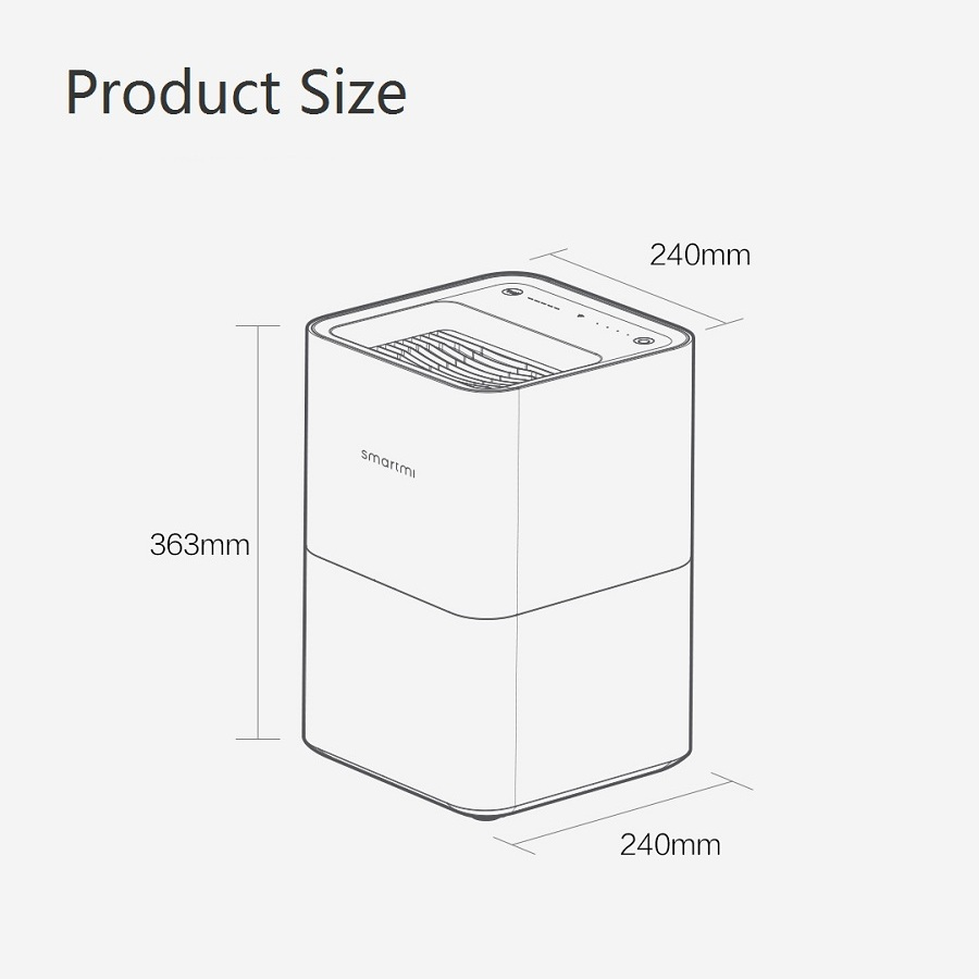 Xiaomi Smartmi Air Humidificateur 2 Pas de Smog Aucun Brouillard S'évaporer Type Xiaomi Zhimi Air Humidificateur 2 Mijia App Origine/ russe Version - 6