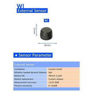 Image 4 - Neumático profesional sistema de supervisión de presión, sensores, con TPMS para motocicleta, antirretroceso con tuercas, color negro y plateado