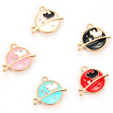 10pcs Colorful Enamel Metal Cat Tree Branches Gold Color Charms Girls Women DIY Necklace Pendant Jewelry Accessory 10 mixed random color alloy enamel metal cat tree branches charms girls women diy necklace pendant fashion jewelry findings