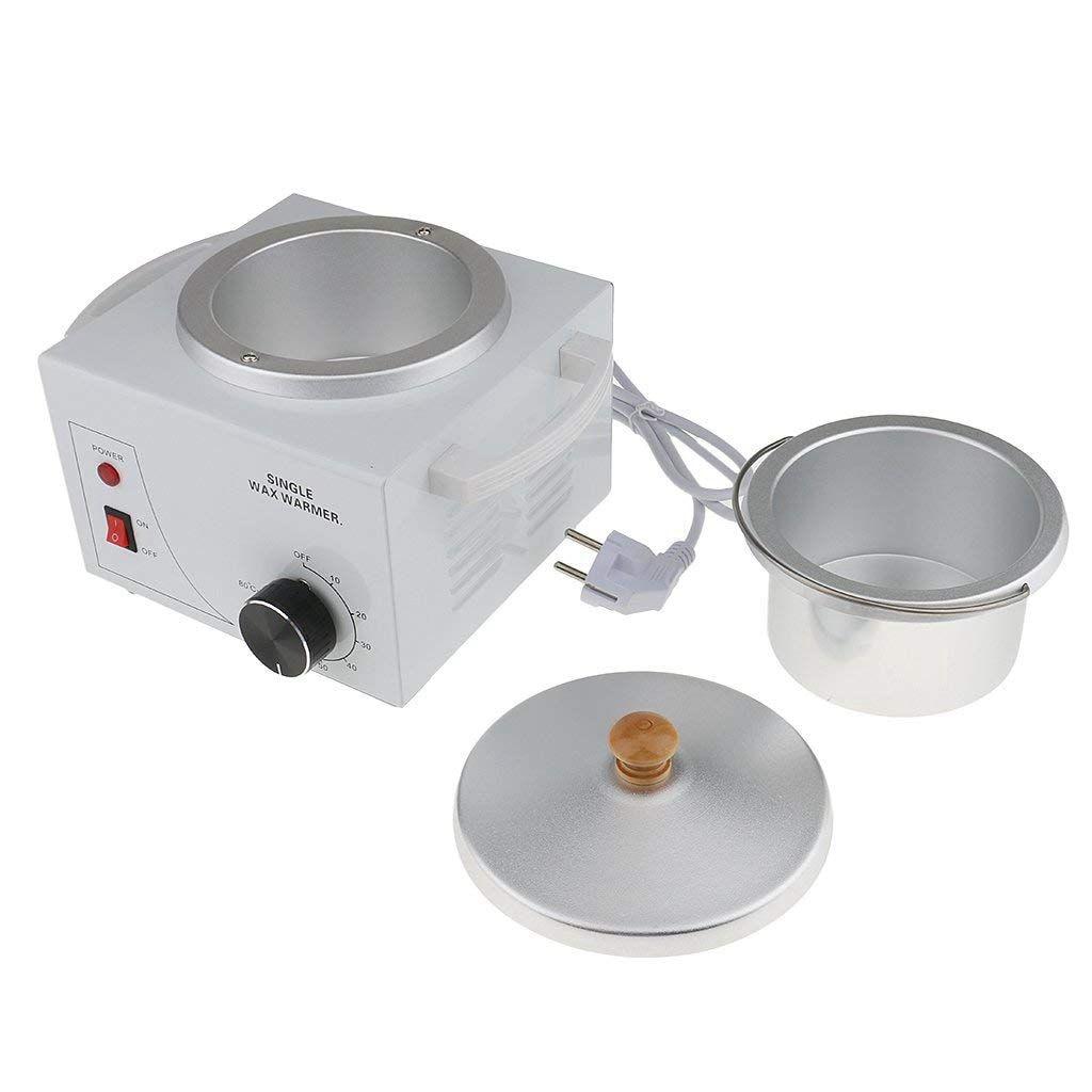 Single Pot Metallic Electric Waxing Machine Hot Waxing Paraffin Waxing for Professional Salon - EU Plug
