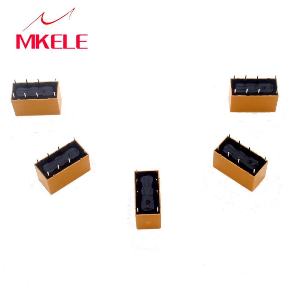 5PCS DC 12V Coil DPDT 8 Pin 2NO 2NC Mini Power Relays PCB Type HK19F
