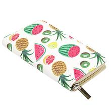 Fruit Printed Long Wallet WomenS Fashion Cute Print Zipper Closure Clutch Hawaii Decoration Bag