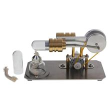 Hot Air Stirling Engine Motor Model Electricity Generator Metal Base Science Educational Toy Educational Model все цены