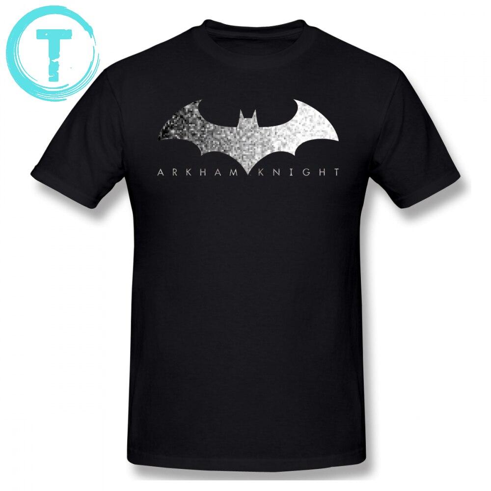 Camiseta de algodão de impressão do logotipo do pixel do cavaleiro de arkham do batman camiseta de t camisa de manga curta 6xl verão divertido camiseta masculina