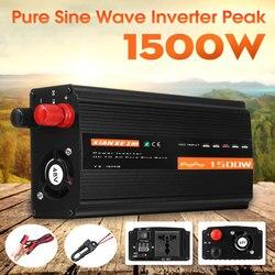 Inversor de onda sinusoidal pura 1500W DC12V/24 V/48 V a AC220V 50HZ potenciador del convertidor de potencia para el coche inversor hogar DIY