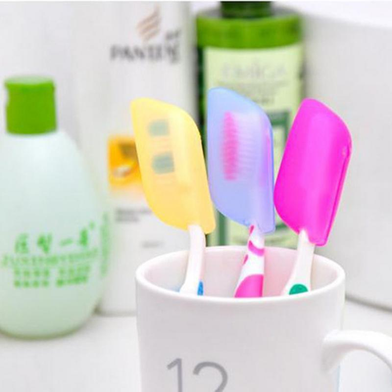 3pcs/set Creative Colorful Silicone Toothbrush Cover Travel Portable Sterilization Health Tooth brush Covers Protective Case image