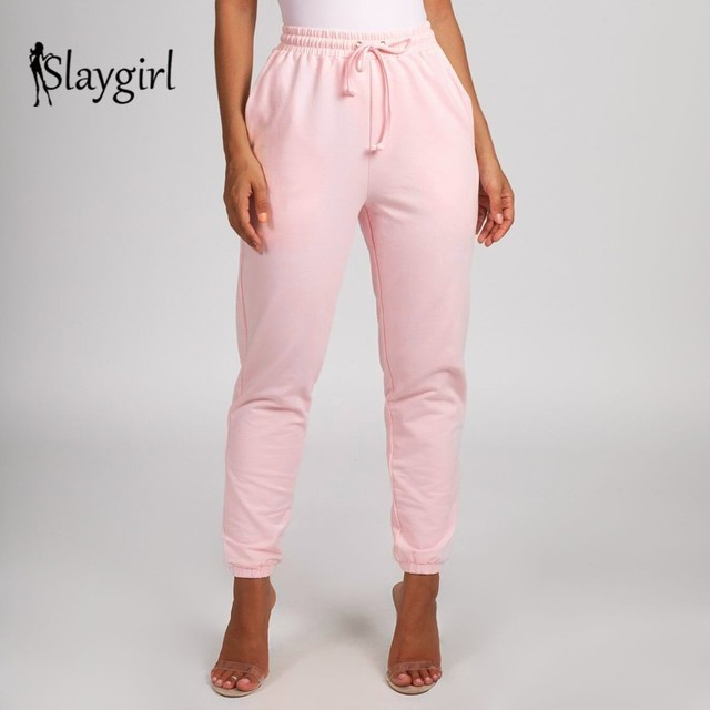 d4eae73fcdd62 Slaygirl Pink Sexy Cargo Pants Women 2018 Autumn Casual Plus Size Loose  Women Trousers Pants pantalon femme Length Pants