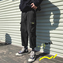 New Spring And Autumn Winter Plus Velvet Tooling Jeans Loose Straight Style Tide Brand National Handsome Japanese Bf Wind