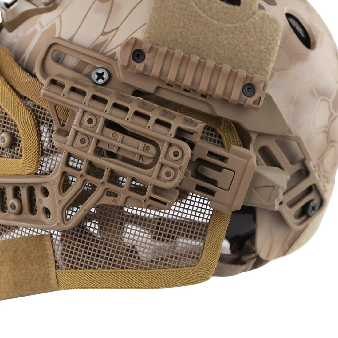 WST acier fil de protection rapide Paintball masque casque costume pour activité de plein air Paintball accessoires-désert Python Grain