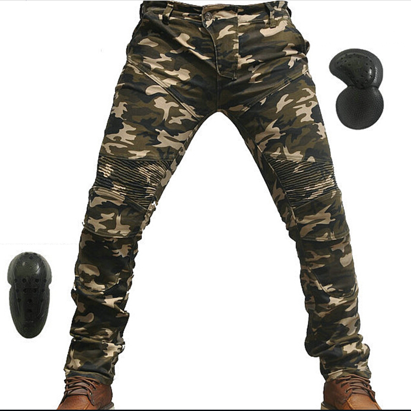 Moto Jeans avec Pad Denim Biker Camo Moto pantalon Combat décontracté beau nouveau