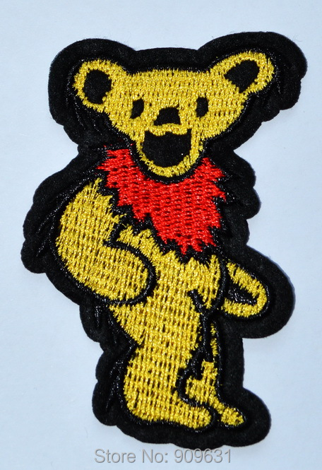 Bear Dancing Ballerina Embroidered Iron On Applique Patch